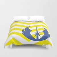 jedi Duvet Covers featuring Star Wars Jedi Chevrons by foreverwars