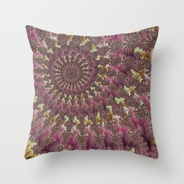 Spiral Fractal Throw Pillow