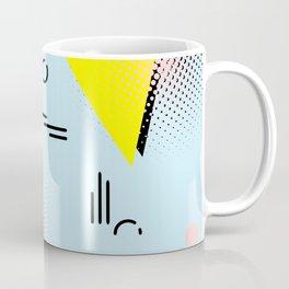 Memphis blue design Coffee Mug