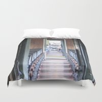 train Duvet Covers featuring Train by Catherine Donato