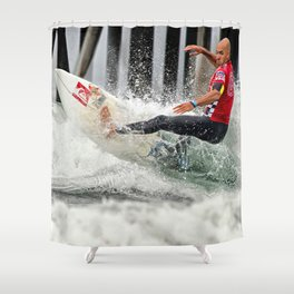 Kelly Slater Surfing Shower Curtain