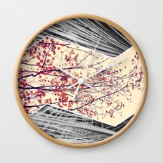 Maple and Pine Collage Wall Clock