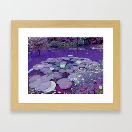 Purple Lake Dreaming Framed Art Print