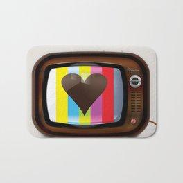 I Love TV vintage poster Bath Mat
