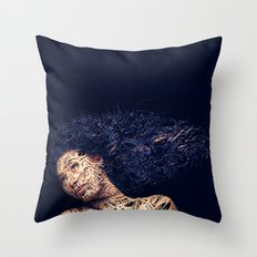 The Lines of a girl. Throw Pillow