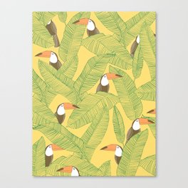 Summer With Toucan Canvas Print