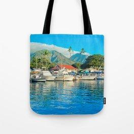 Lāhainā Marina Sunset Maui Hawaii Tote Bag