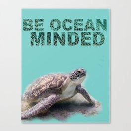 Be Ocean Minded Canvas Print