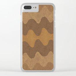 Under the Influence (Marimekko Curves) Whole Wheat Clear iPhone Case