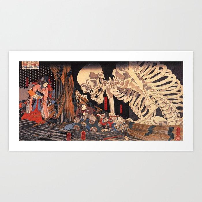 Takiyasha the Witch and the Skeleton Spectre, by Utagawa Kuniyoshi Kunstdrucke