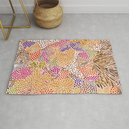 Abstract Flowers 1 Rug