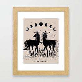 7. The Chariot (Unicorns) Framed Art Print