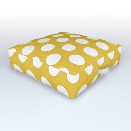 Mustard Yellow and White Polka Dots 772 Outdoor Floor Cushion