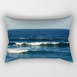 Waves at the Sea Side Beach Rectangular Pillow