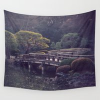 bridge Wall Tapestries featuring Bridge by Sushibird