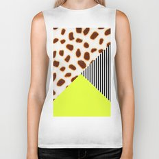 Cheetah Leo stripe and neon Biker Tank