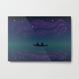Dancing Lights - The Voyage Collection Metal Print