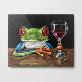 """""""Cabernet"""" - Frogs After Five collection Metal Print"""