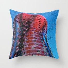 Torre Fira bcn Throw Pillow