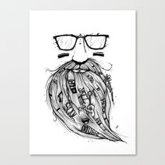Beard Me Some Music (Black & White) Canvas Print