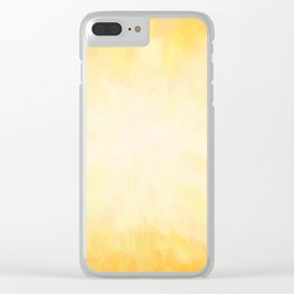 Golden Sunburst Clear iPhone Case