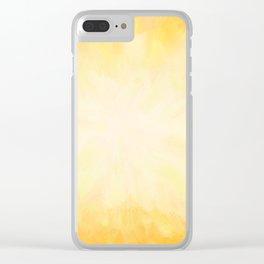 Golden Sunburst Clear iPhone Case