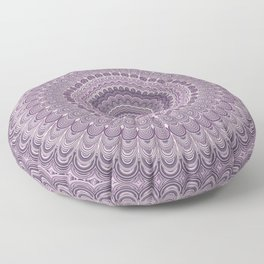 Purple feather mandala Floor Pillow