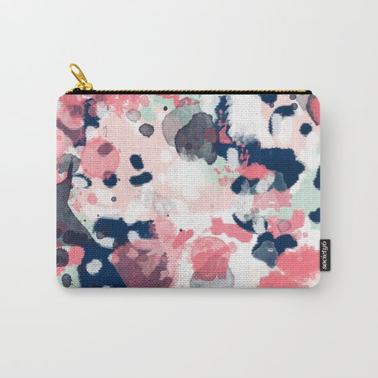 Hayes - abstract painting minimal trendy colors nursery baby decor office art Carry-All Pouch