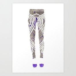 Silver & Purple Art Print