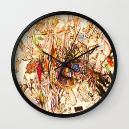 The Seven Head Dresses of Lucifer Wall Clock