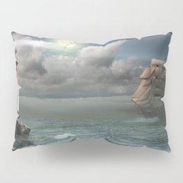 Lighthouse Under Back Light Pillow Sham