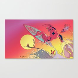 WAVEJAMMER SURFING COMPANY / BREAKRIDERS Canvas Print