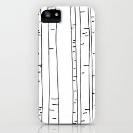 Minimal birches iPhone Case