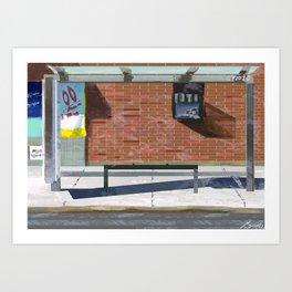 The Bus Stop Art Print