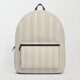Modern Geometric Pattern 9 in Ivory Vertical Stripes Backpack