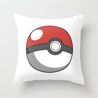 pokeball Throw Pillows featuring Pokeball ! by swiftstore