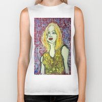 emma watson Biker Tanks featuring EMMA by ART OF JAN