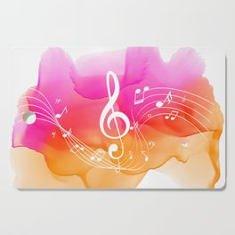 Watercolor, Musical Notes, watercolor t-shirt, watercolor sticker Cutting Board