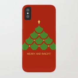 Merry and Bright Ginkgo Christmas Tree iPhone Case
