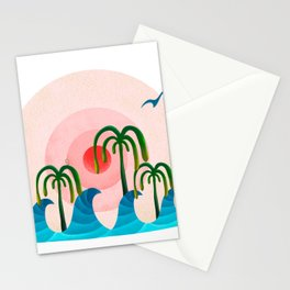 060 - Waiting for the big wave Stationery Cards