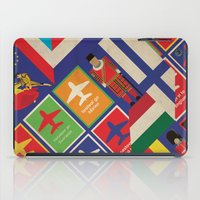 travel poster iPad Cases featuring EU Travel Poster by Thefunctionalfox