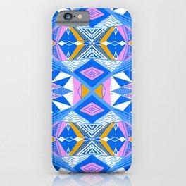 imogene blue, repeat pattern iPhone Case