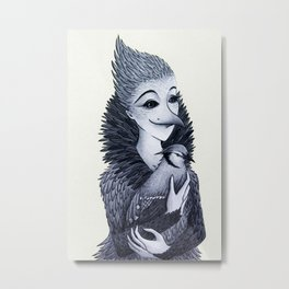 Blue Jayne Metal Print