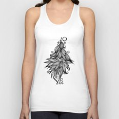 Ornate tangle wave form Unisex Tank Top