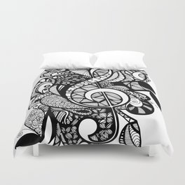 Let the music play! Duvet Cover