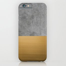 Concrete x Gold iPhone Case