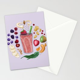 Smoothie Diagram Stationery Cards