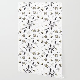 Tree Of Life - Floral & Foliage Pattern #1 #drawing #decor #art #society6 Wallpaper
