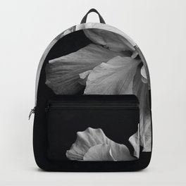 Hibiscus Drama Study - Black & White High Impact Photography Backpack
