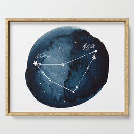 Capricornus Zodiac Constellation Serving Tray